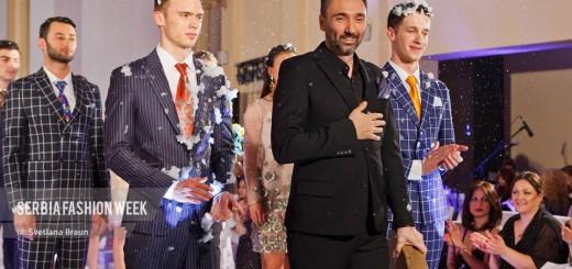 Modni kreator Mladen Milivojević Baron na Serbia Fashion Week-u foto: Svetlana Braun